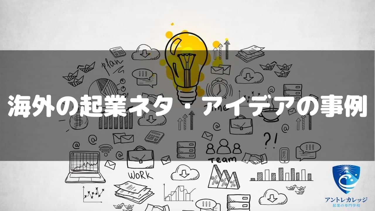 海外の起業ネタ・アイデアの事例