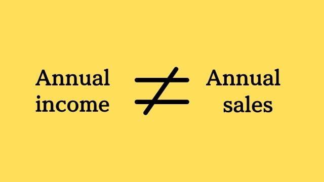年商と年収は「全くの別物」